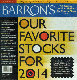 Barron's Top 10 Stocks For 2014
