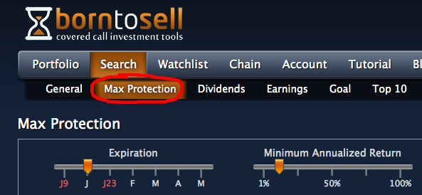 max protection search mode