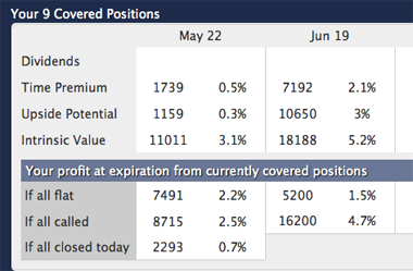 Summary of Covered Call Positions