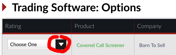 vote for covered call software